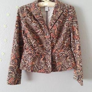 Brown Patterned Jacket